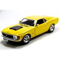 Motormax 1:24 1970 Ford Mustang Boss 429 -Sarı Diecast Model Araba