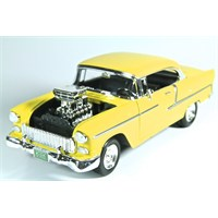 Motormax 1:18 1955 Chevy Bel Air -Sarı Model Araba