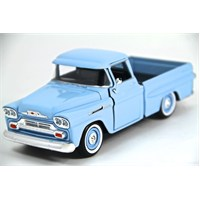 Motormax 1:24 1958 Chevy Apache Fleetside Pickup -Mavi Model Araba