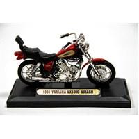 1986 Yamaha Vx1000 Virago 1:18 Model Kırmızı Motorsiklet (Motormax)