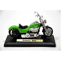 Classic Bike 1:18 Model Motorsiklet Yeşil (Motormax)