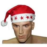 Yıldızlı Işıklı Noel Baba Şapka -