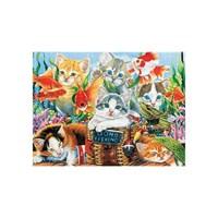 Masterpieces Puzzle Fishing Kittens (750 Parça)