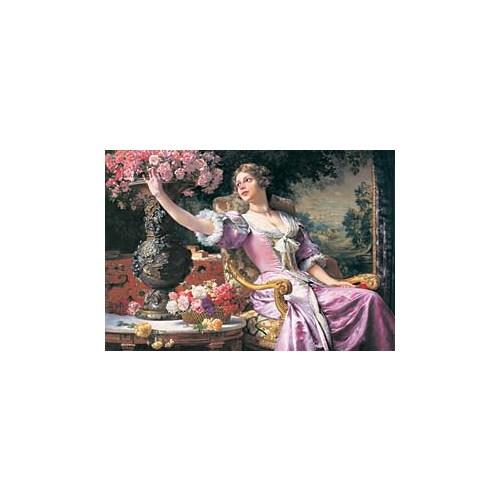 Castorland 3000 Parça Puzzle Lady in Purple Dress