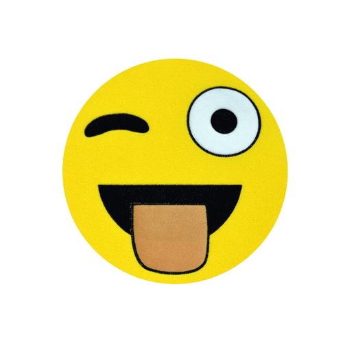Toptancı Kapında Göz Kırpan Emoji Yastık E8