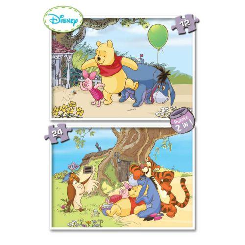 Ks Games 2 li Puzzle 12 + 24 Parça Winnie The Pooh