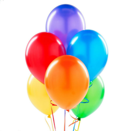 Hergunyeni Metalik Renkli Balonlar 100 Adet