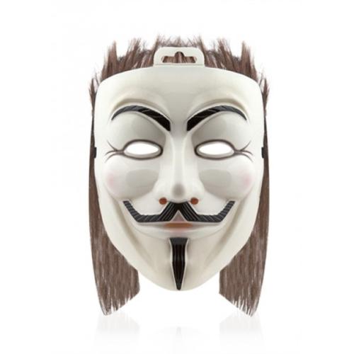 Hergunyeni Saçlı V For Vendetta Maskesi