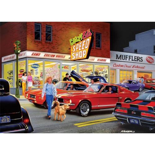 Masterpieces 1000 Parça Crazy Ed's Speed Shop Puzzle