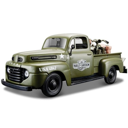 Maisto 1948 Ford F-1 Pickup Harley Davidson 1:24 Model Araba