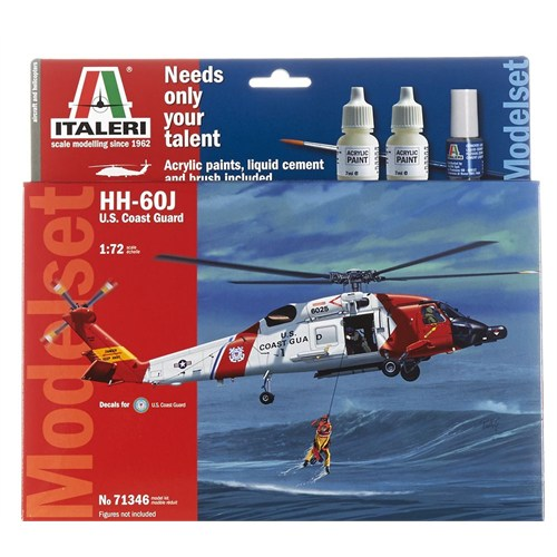 Italeri 1:72 Hh-60J Us Coast Guard Model Set 71346