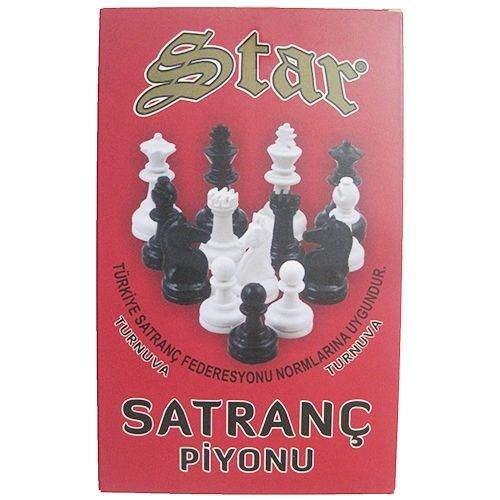 Star Oyun Plastik Satranç Taşları Büyük Boy