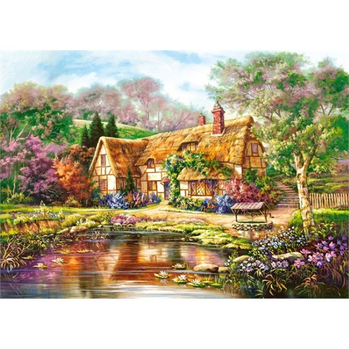Castorland 3000 Parça Puzzle - Twilight At Woodgreen Pond