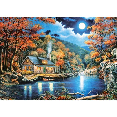 Castorland 2000 Parça Cabin By The Lake Puzzle