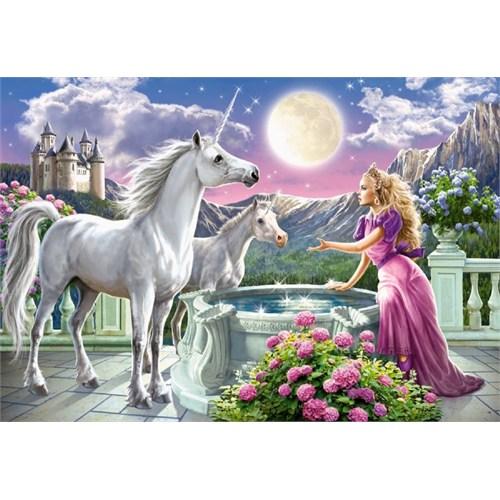 1000 Parça Prenses Ve Unicorn'lar Puzzle (Castorland)
