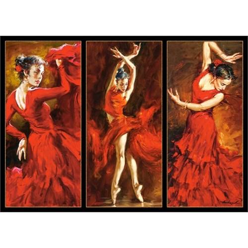 Castorland 1000 Parça Kıpkırmızı Dansçılar Puzzle