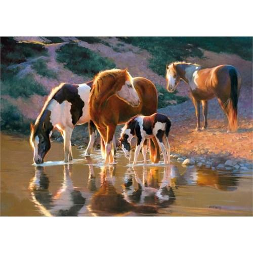 Castorland 500 Parça Puzzle - Özgür Atlar