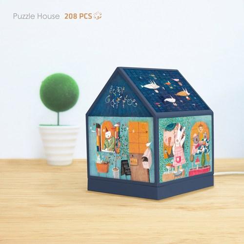 Pintoo Ayıcıklar Kafede Işıklı Ev Puzzle 208 Parça