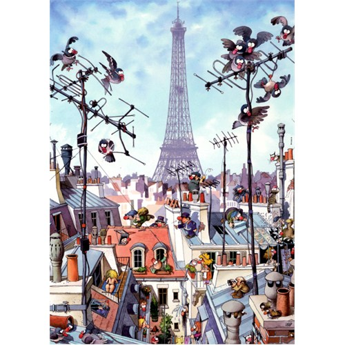 Heye Puzzle Eiffel Tower, Loup (1000 Parça)