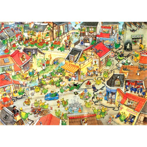 Heye Puzzle Dragontown, Degano (1000 Parça)