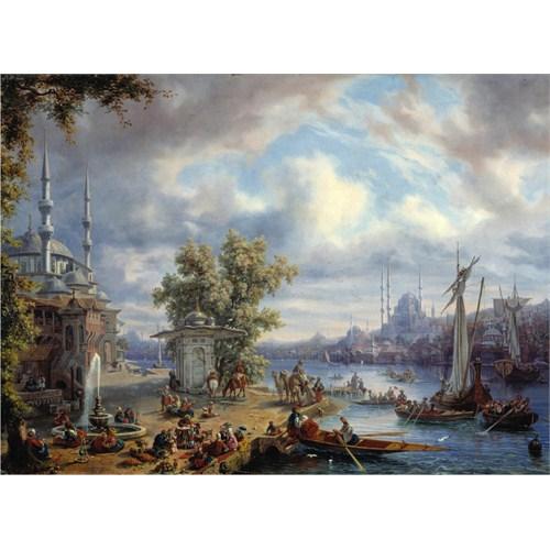 Perre Puzzle Boğazın Anadolu Yakası / Rive Asiatique De Bosphore Animee A Constantinople (1000 Parça)