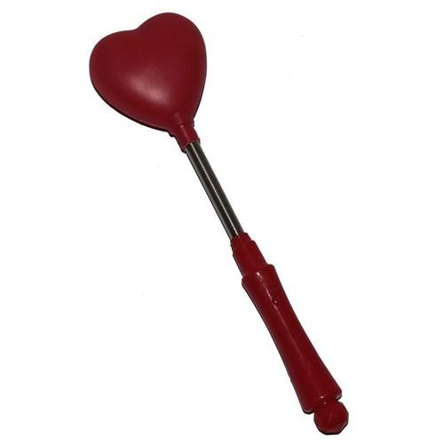 Pandoli Yaylı Sallanan Işıklı Kalp Çubuk Kırmızı Renk