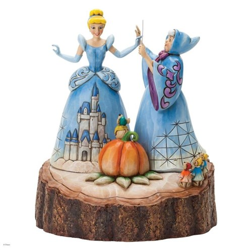 Disney Traditions Enesco Carved By Heart Cinderella Figure Diorama