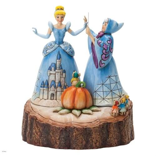 Disney Traditions Enesco Carved By Heart Cinderella Figure Diorama