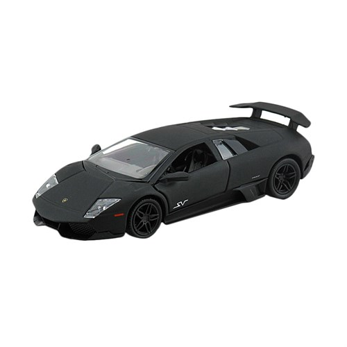 Mat Siyah Lamborghini Murcielago 1/36 Çek Bırak Die Cast Model Araç
