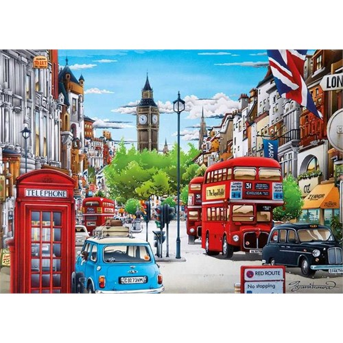 Dino Puzzle Life İn London (1000 Parça)