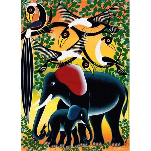 Heye Elephant Family, Tinga Tinga African (1000 Parça)