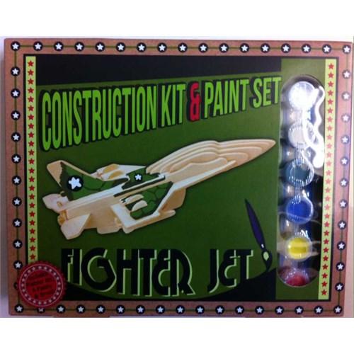 Professor Puzzle Construction Kit And Paint Set - Fighter Jet