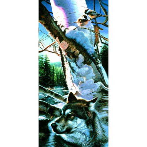 Sunsout Wolf And Chickadees (1000 Parça)