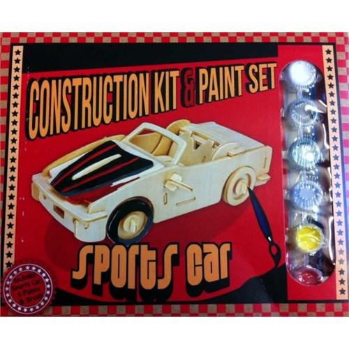 Professor Puzzle Construction Kit And Paint Set - Sports Car