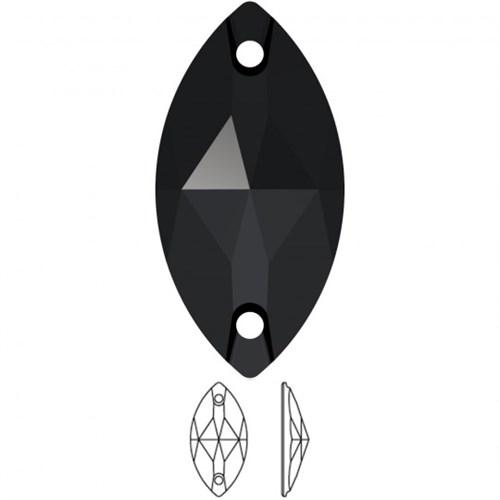 Swarovski 2 Adet Kristal Oval Dikilebilen Boncuk - 32