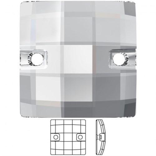 Swarovski 1 Adet Kristal Kare Dikilebilen Boncuk - 3293