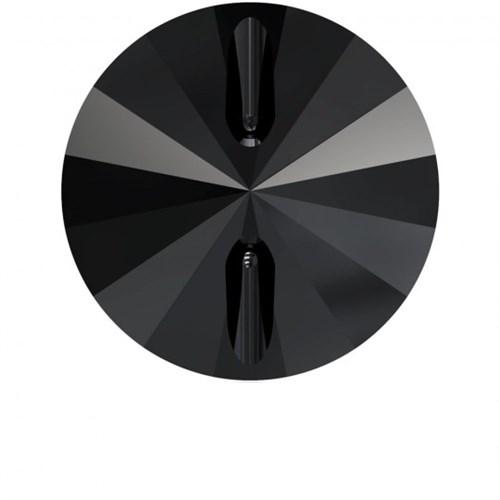 Swarovski 1 Adet 14 Mm Siyah Yuvarlak Düğme - 3015