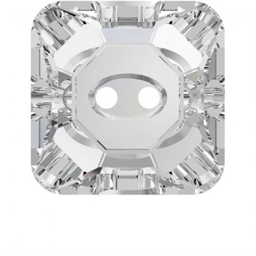 Swarovski 1 Adet Kare Kristal Düğme - 3017