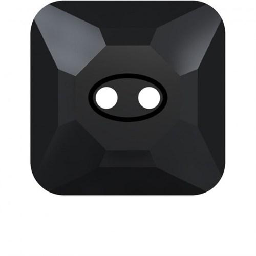 Swarovski 1 Adet Siyah Kare Düğme - 3017