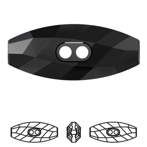 Zirkon 1 Adet Siyah Çoban Düğme - 3024