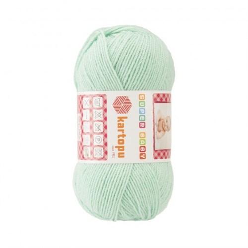 Kartopu Super Baby Açık Yeşil Bebek Yünü - K507