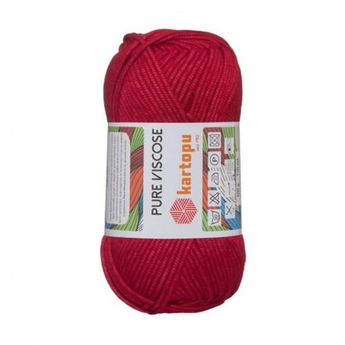 Kartopu Pure Viscose Kırmızı El Örgü İpi - K132