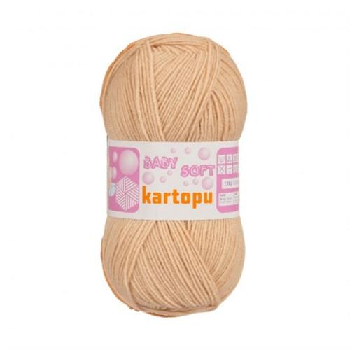 Kartopu Baby Soft Bej Bebek Yünü - K859