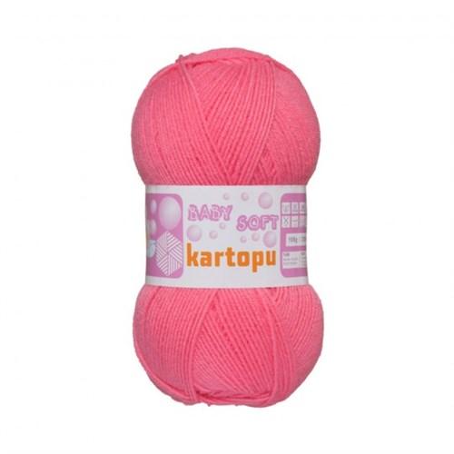 Kartopu Baby Soft Pembe Bebek Yünü -K244