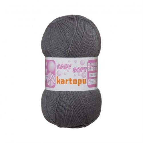 Kartopu Baby Soft Gri Bebek Yünü - K934