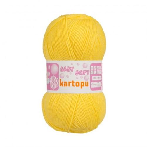 Kartopu Baby Soft Hardal Sarısı Bebek Yünü - K152