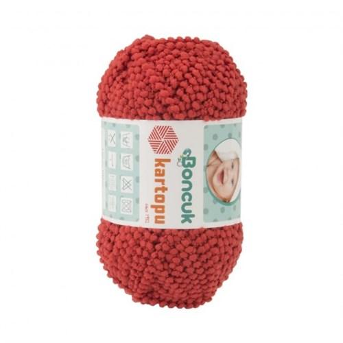 Kartopu Boncuk Kırmızı Bebek Yünü - Tn553