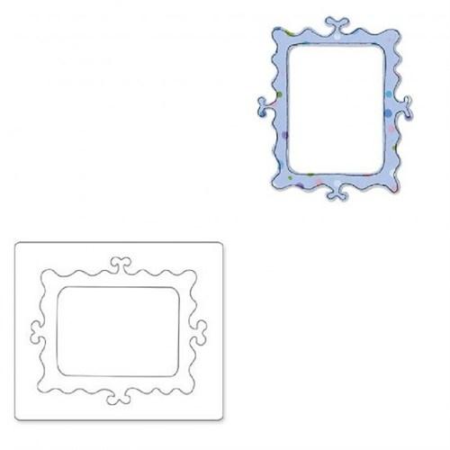 Sizzix Kıvırcık Desenli Kesici Çerçeve Kalıbı - 1655432
