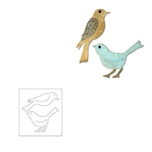 Sizzix 2'Li Kuş Kalıbı - 1656551