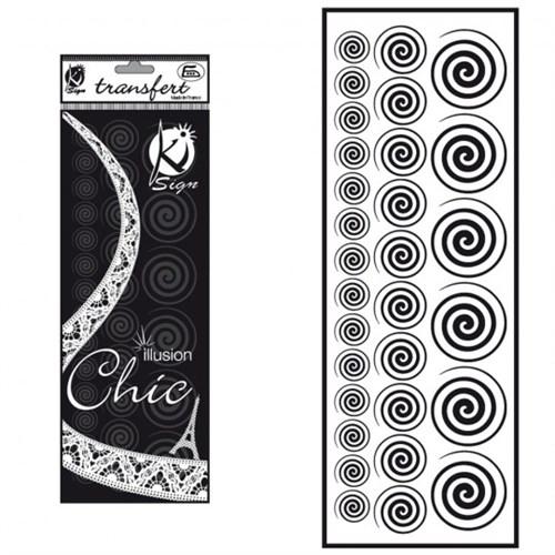 Ki-Sign Kadife Dokulu Spiral Ütüyle Yapışan Desen Kağıdı - Ksfd-05